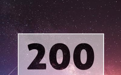 Modelo de logotipo para logotipos de tipografia 200