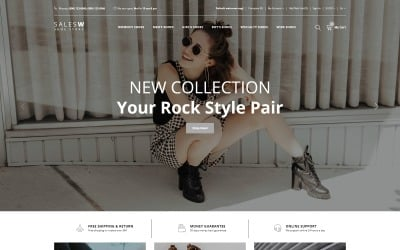 SalesW - Shoes Responsive Practival OpenCart Template