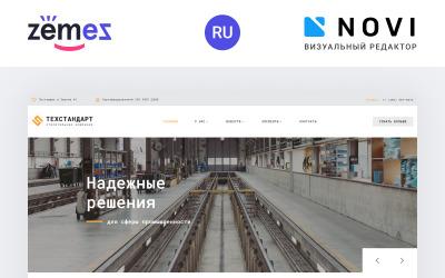 Tehnostandart - Ipari vállalat használatra kész, többoldalas, modern Ru webhelysablon