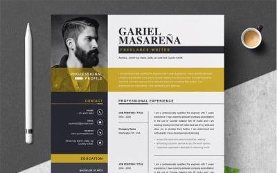 Plantilla de CV de Gariel Masarena