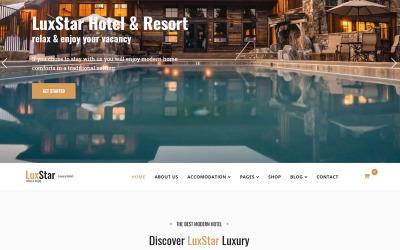 Шаблон бронювання готелів та курортів LuxStar Joomla