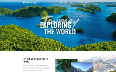 Історія рюкзака - багатосторінковий шаблон туристичного агентства Joomla