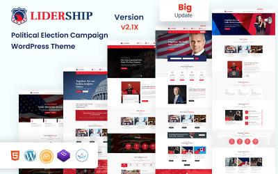 Lidership - Politikai választási kampány WordPress téma