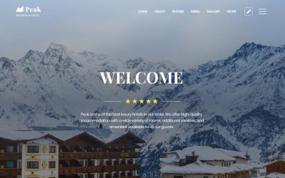 Peak - Hotels One Page Bereinigen Sie die HTML-Landingpage-Vorlage