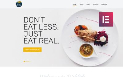 Dishlish - Többfunkciós étterem klasszikus WordPress Elementor téma