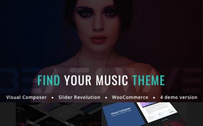 Beatswave - WordPress-tema för kreativ musik