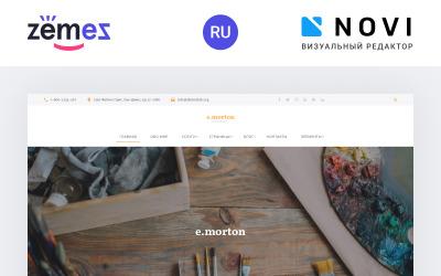Emorton - Artist Portfolio Ready-To-Use Multipage HTML5 Ru Website Template