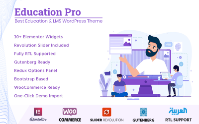 Education Pro - Beste WordPress-thema voor onderwijs en LMS