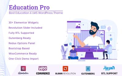 Education Pro - En İyi Eğitim ve LMS WordPress Teması
