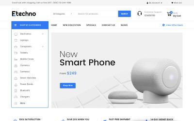 Etechno - Elektronicawinkel OpenCart-sjabloon