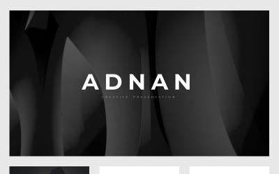 Adnan Minimal Präsentation PowerPoint-Vorlage