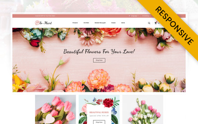 Šablona OpenCart květinářství FloMart