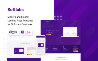 Softlabs-软件公司创意HTML Bootstrap着陆页模板
