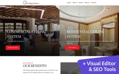 Stretch Ceiling Landing Page Template