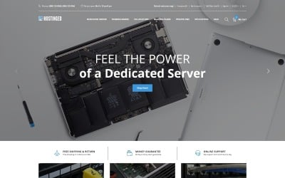 Hostinged - Hosting Reliable Clean OpenCart Template
