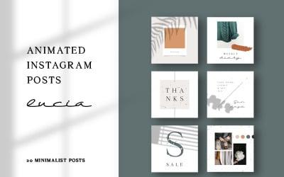 Lucia - Instagram Posts Social Media Template