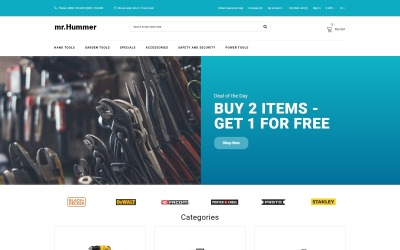 Mr.Hummer - Tools & Equipment Clean Multipage OpenCart Template