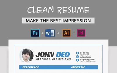 John Deo - Resume Template