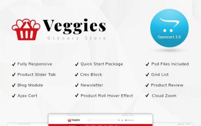 Veggies Grocery Store OpenCart Template