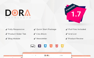 PrestaShop téma Dora Furniture Shop