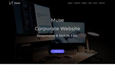 Siguiente Plantilla Muse para Portafolio Creativo