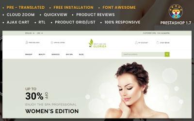 Gloriea Spa and Beauty PrestaShop Theme