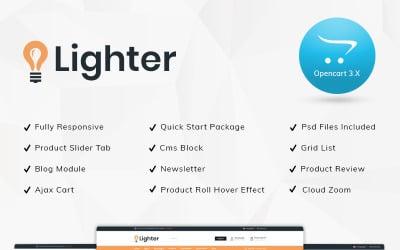Lighter Light Store OpenCart Template