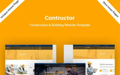 Contructor-Construction & Building Landing Page Template
