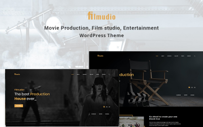 Filmudio - produção de filmes, estúdio de cinema, tema WordPress criativo e de entretenimento