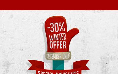 Oferta de inverno - ilustração