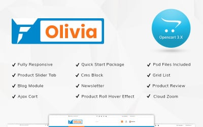 Olivia Mega Store OpenCart Template
