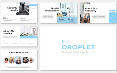 Droplet Pitch Deck PowerPoint Template