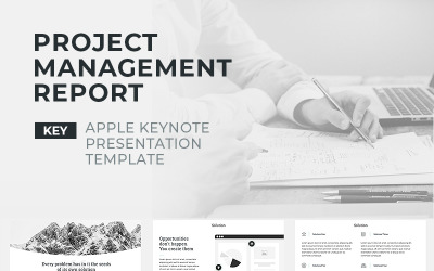 Project Management Report - Keynote template
