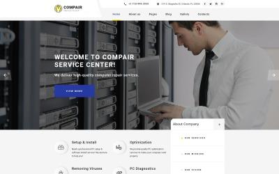Compair - A számítógépek tisztítják a Joomla sablont
