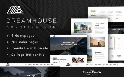Dreamhouse - Arkitektur och inredningsdesign Joomla-mall