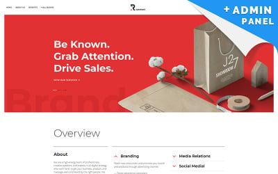 PR Company Landing Page Template