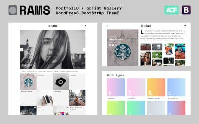 RAMS - Portfolio Artist Gallery WordPress Theme