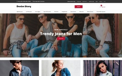 Denim Story - Jeans E-commerce Clean OpenCart Template