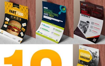Flyer Template Bundle | 10 Flyer Design - Corporate Identity Template