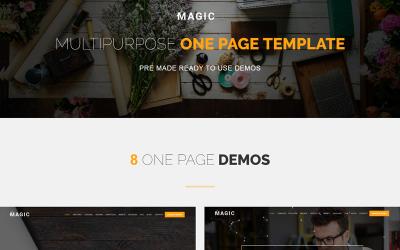 Magic - Multipurpose Onepage Joomla Template