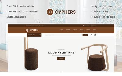 Cyphers - modelo OpenCart de loja de móveis