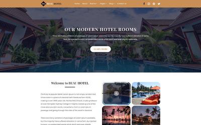 BEAU HOTEL   Modèle PSD d'hôtel et de villégiature