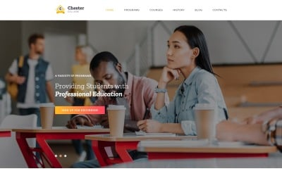 Chester - University Modern HTML Bootstrap Landing Page Template