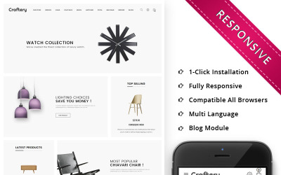 Craftery - The Furniture Store Responsive OpenCart Template