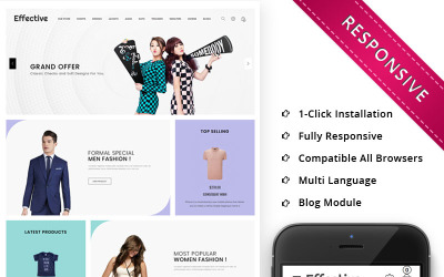 Effective - The Fashion Store Responsive OpenCart Template