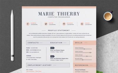 Marie Resume Template