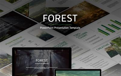 Modèle PowerPoint de forêt