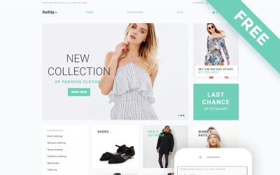 SuitUP - Fashion Store Free Elegant Shopify Theme