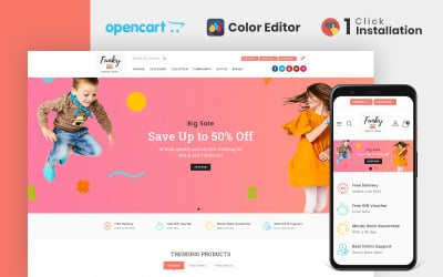 Funky Fashion Store OpenCart Template