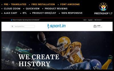 SportIn Sports Accessories Store PrestaShop Theme